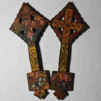 Ethiopian hand cross in wood
